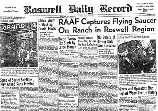 Roswell,extraterestrii printre noi