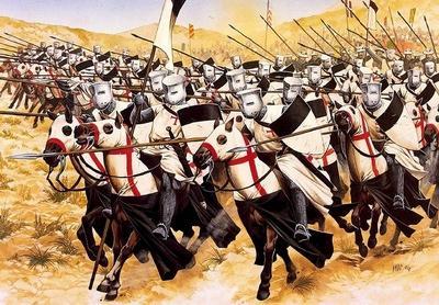 cavalerii templieri ataca