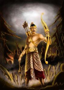 Painting-Of-Arjuna